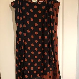 NWT Maeve by Anthro brown/black polka dot skirt